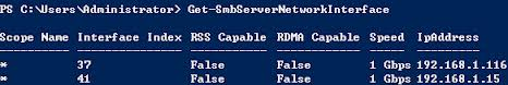 SMB 3.0 Multichannel服务器网卡