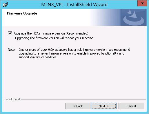 更新 Mellanox firmware